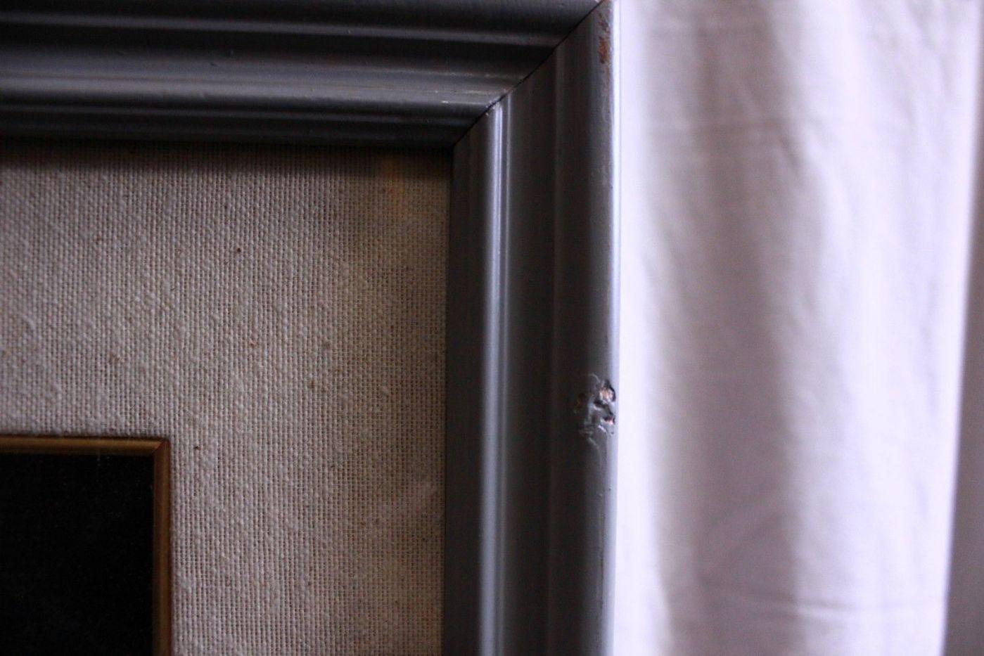 thumb4|Quadro a mezzopunto raffigurante vaso di fiori con cornice e vetro 18 x 49