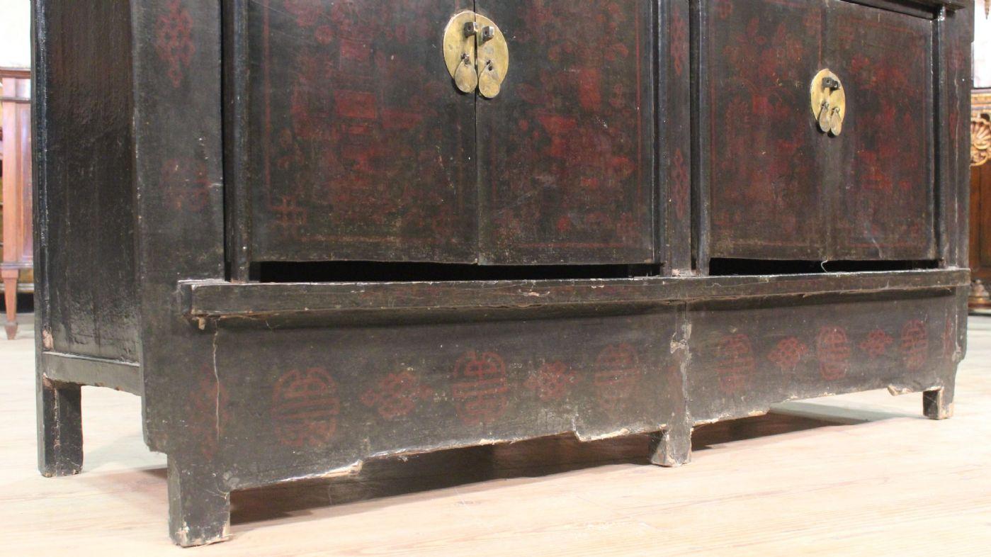 thumb5 Credenza cinese laccata e dipinta del XX secolo