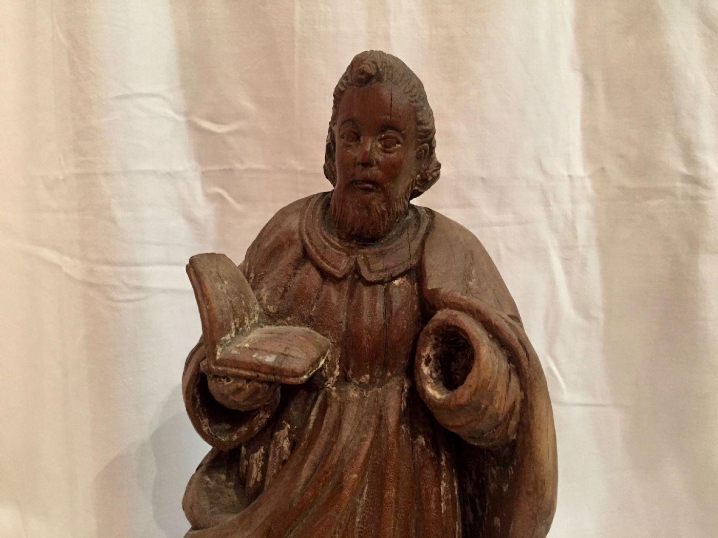 thumb3|Evangelista San Marco, legno, XIX° secolo