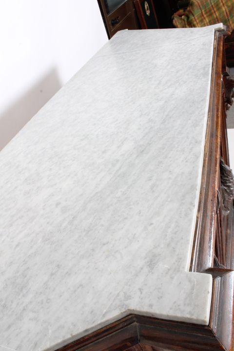thumb9| Credenza Piattaia Napoli scantonata Neorinascimentale -  Liberty XIX sec . Vetrina antica finemente intagliata . Antiquariato