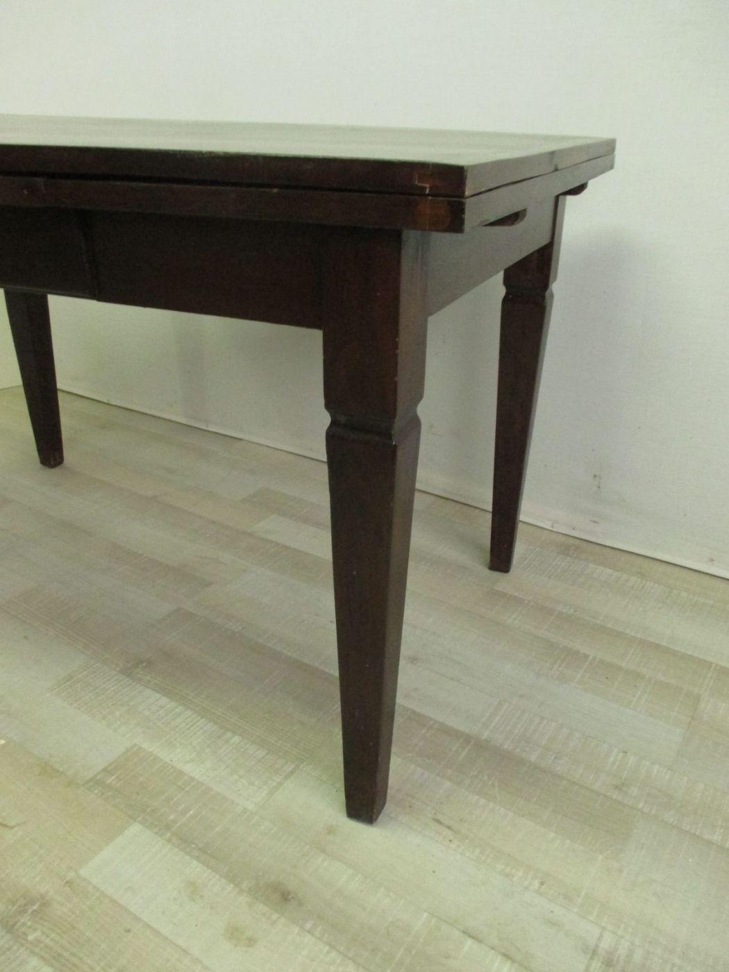 Extensi n de la mesa extensible en walnut luis xvi 900 - Mesa escritorio extensible ...