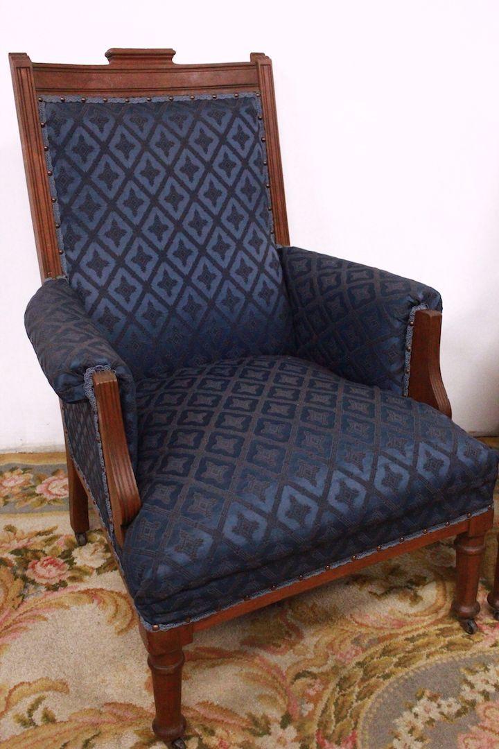 sch nes paar sessel besticktes tuch stuhl louis xv stil stuhl alt antiquit ten auf anticoantico. Black Bedroom Furniture Sets. Home Design Ideas
