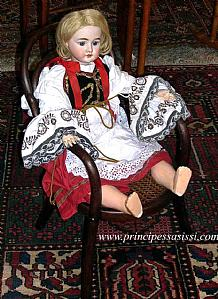 Rare doll integrates the Austrian manufacturing of Aich Monglich.(Vienna 1870).