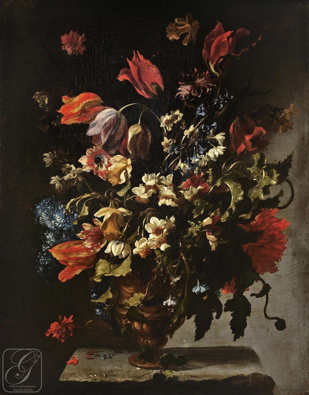 Paolo porpora napoli 1617 roma 1673 for Immagini di fiori dipinti