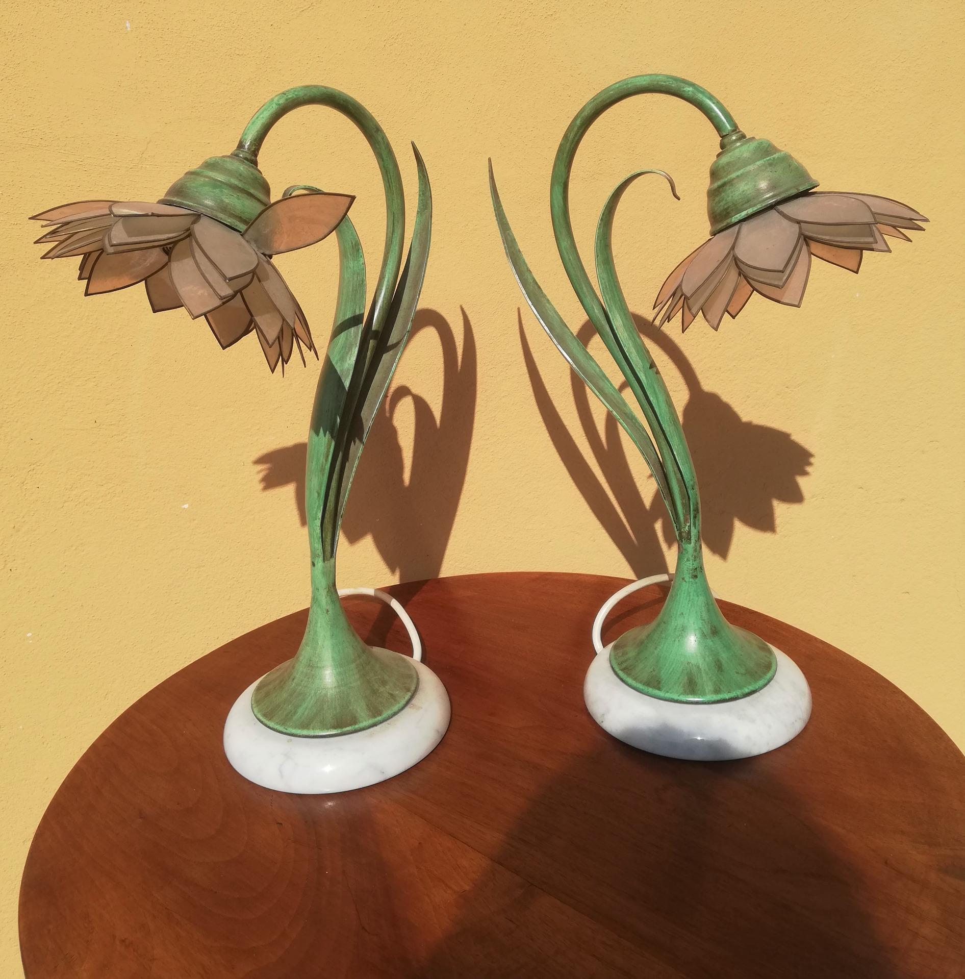 coppia di lampade vintage