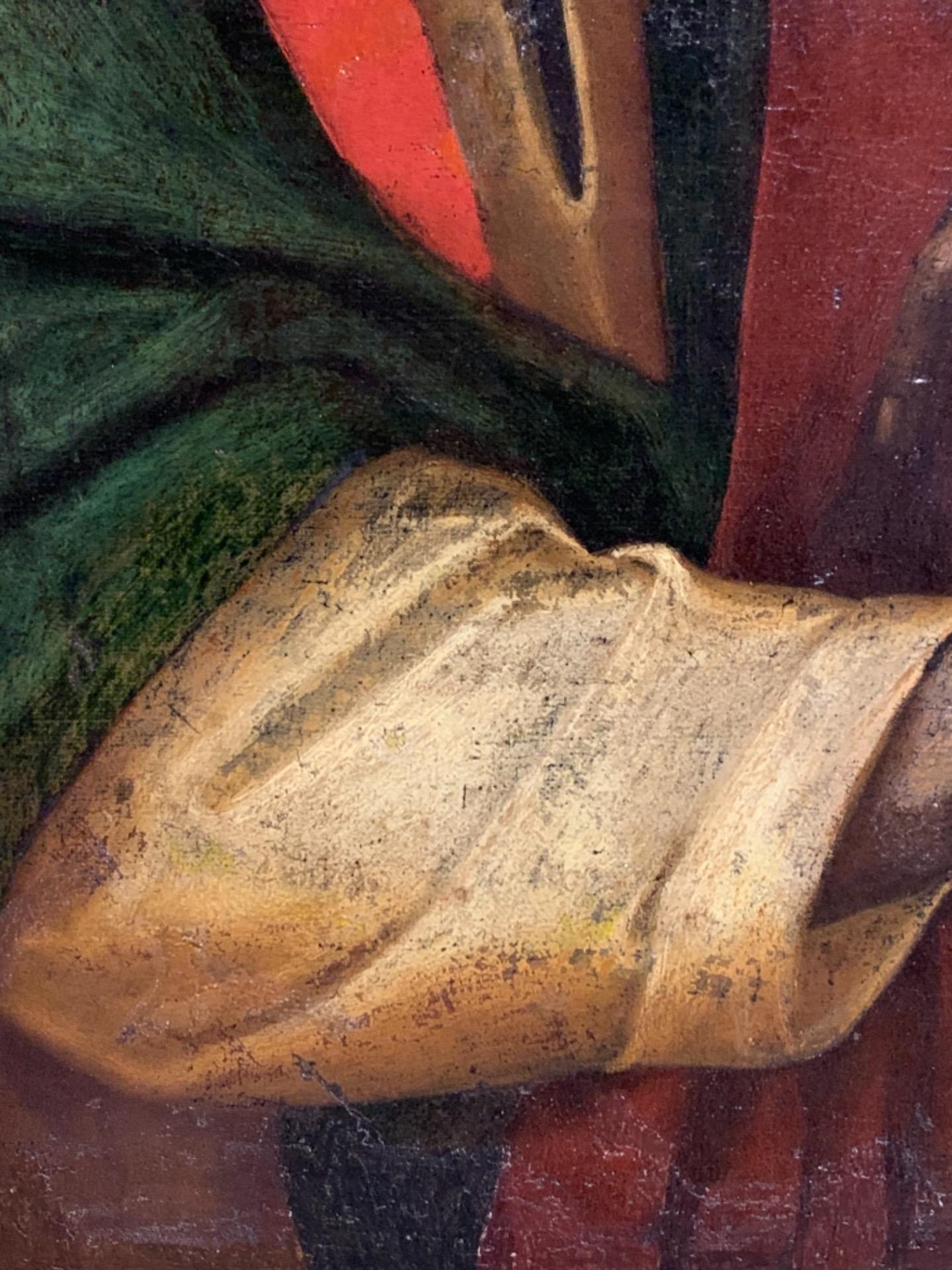 thumb6 Giuda Taddeo Apostolo - Scuola lombarda XVII secolo . Cm 77 x62