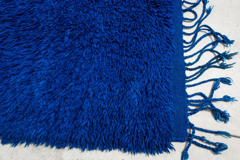 thumb4|Tappeto Marocco a fondo blu (n.1179)