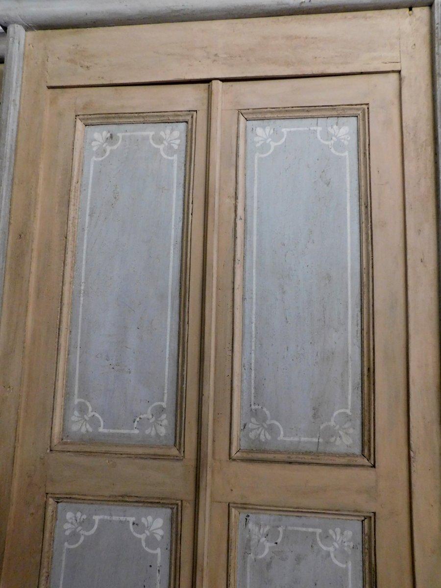 thumb3|pts687 - coppia di porte laccate con telaio, cm l 117 x h 232