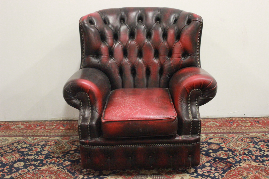Poltrona Pelle Bordeaux.Chesterfield Chesterfield Armchair Bergere Monk English