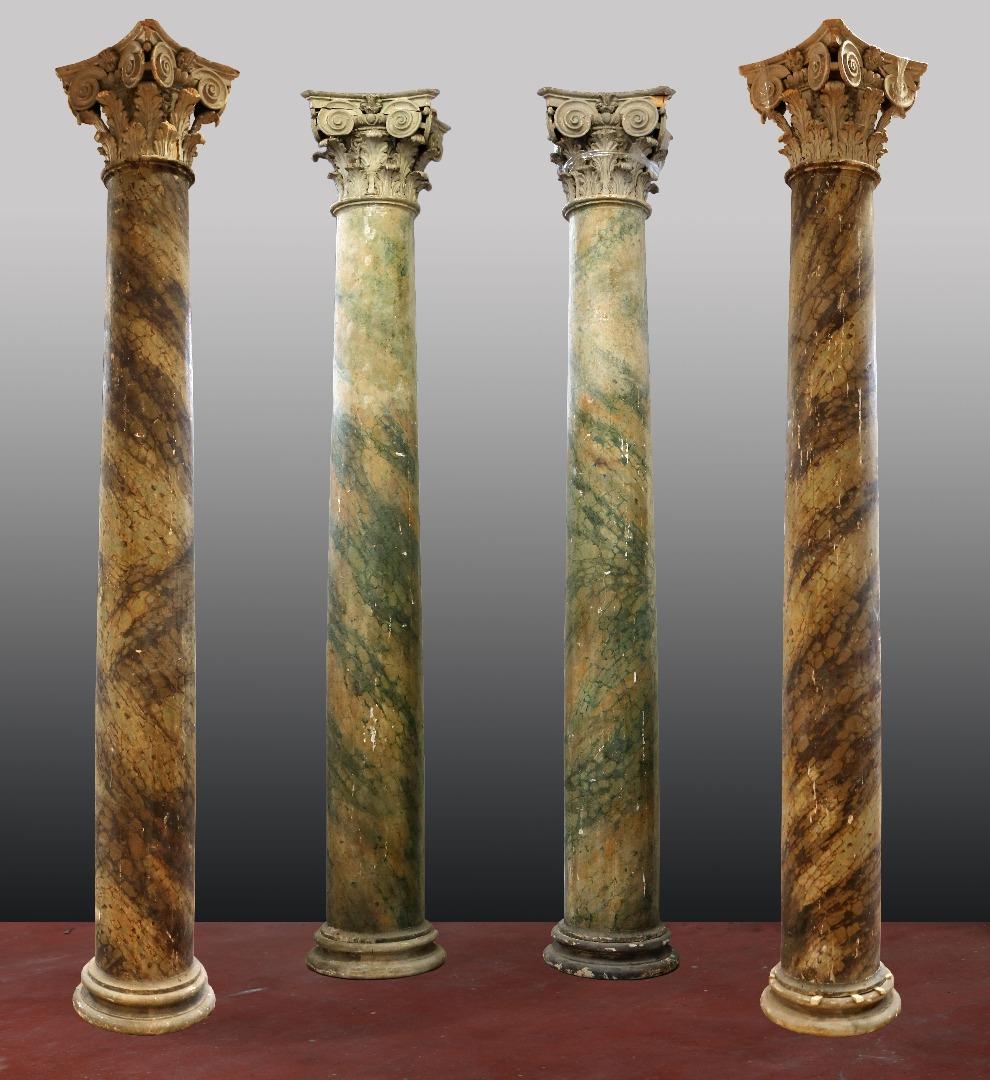 Quattro antiche colonne in legno. Epoca Luigi XIV. | Antiquariato su ...