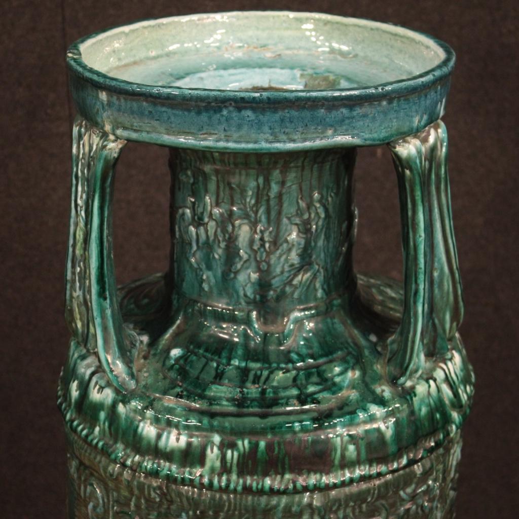 thumb2|Vaso italiano in terracotta smaltata verde