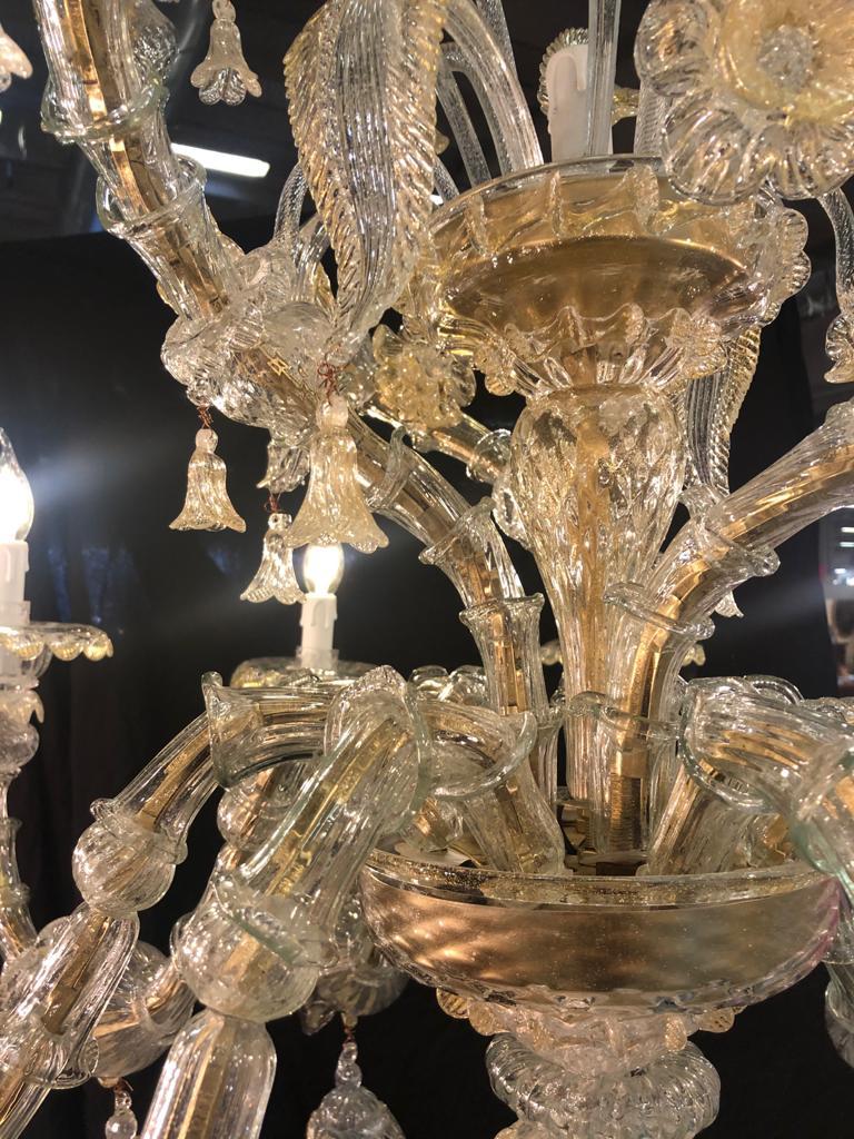 thumb3 Lampadario a elica in vetro di Murano 10 fiamme