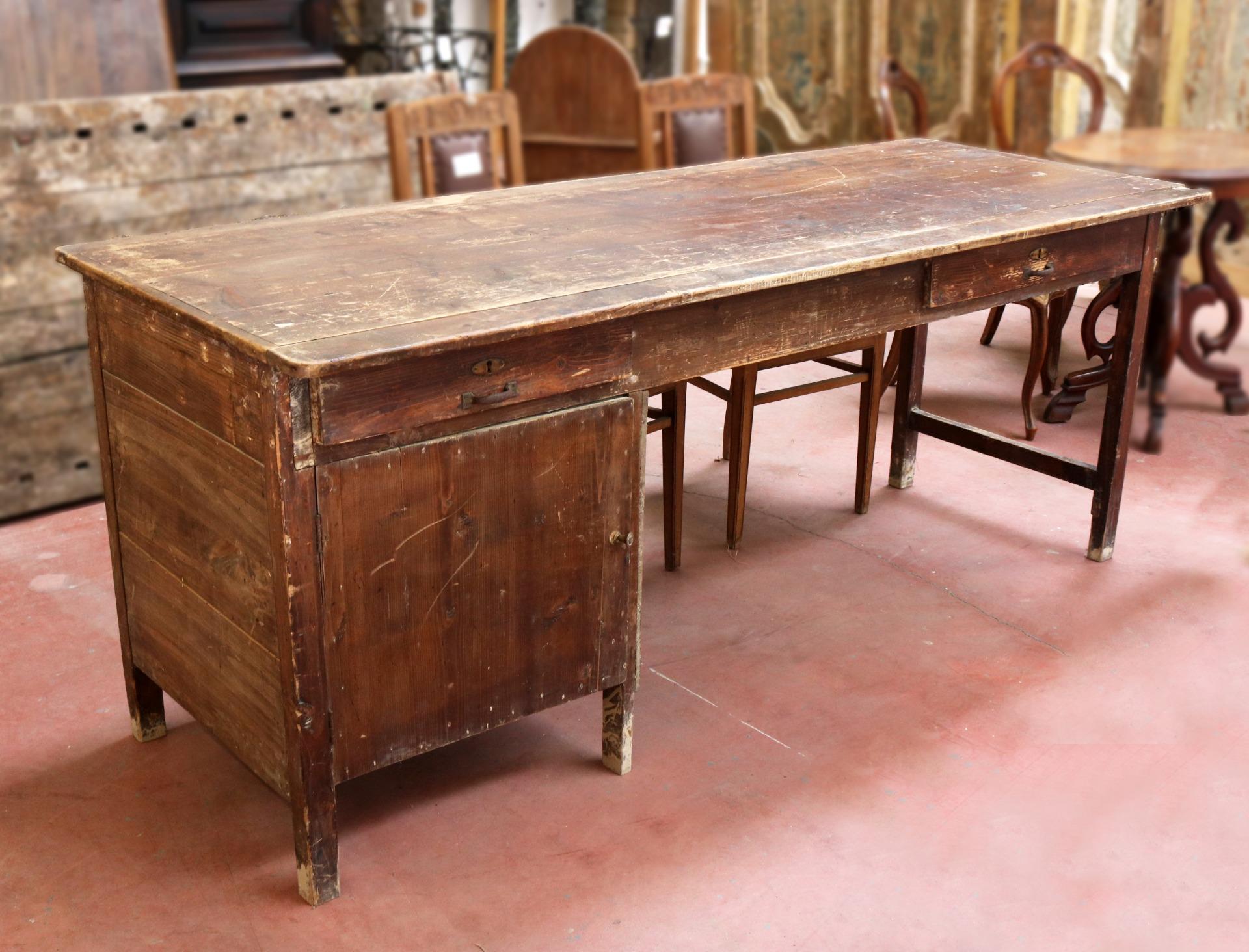 Banco Da Falegname Antico tavolo da lavoro in legno antico