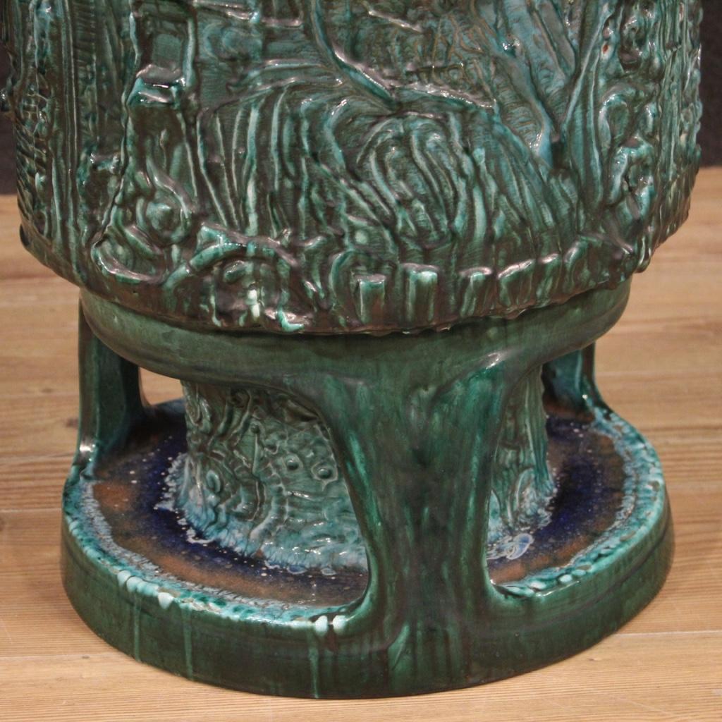 thumb3|Vaso italiano in terracotta smaltata verde