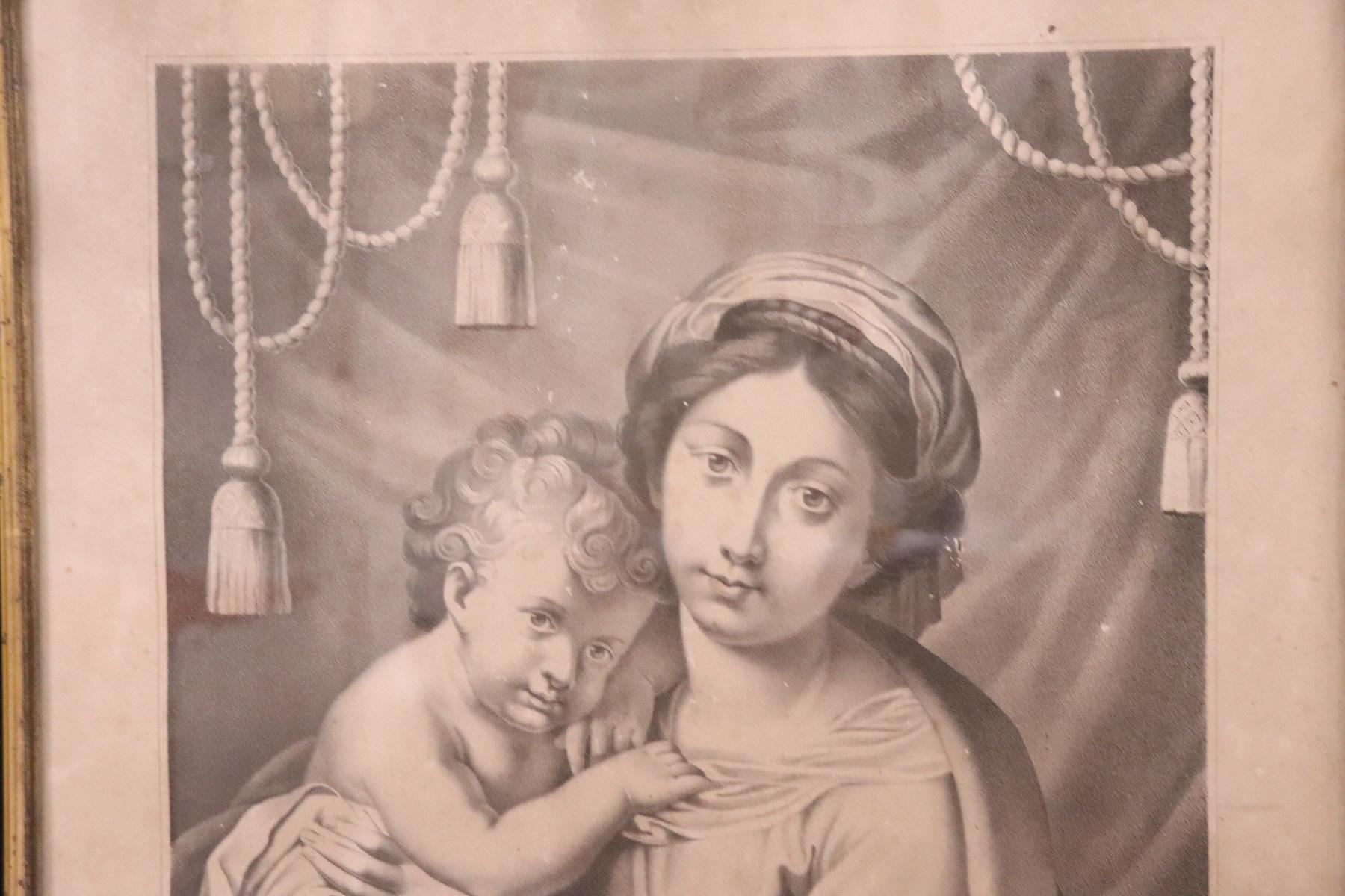 thumb2|Antica Litografia Madonna dell'Aiuto secolo XIX PREZZO TRATTABILE