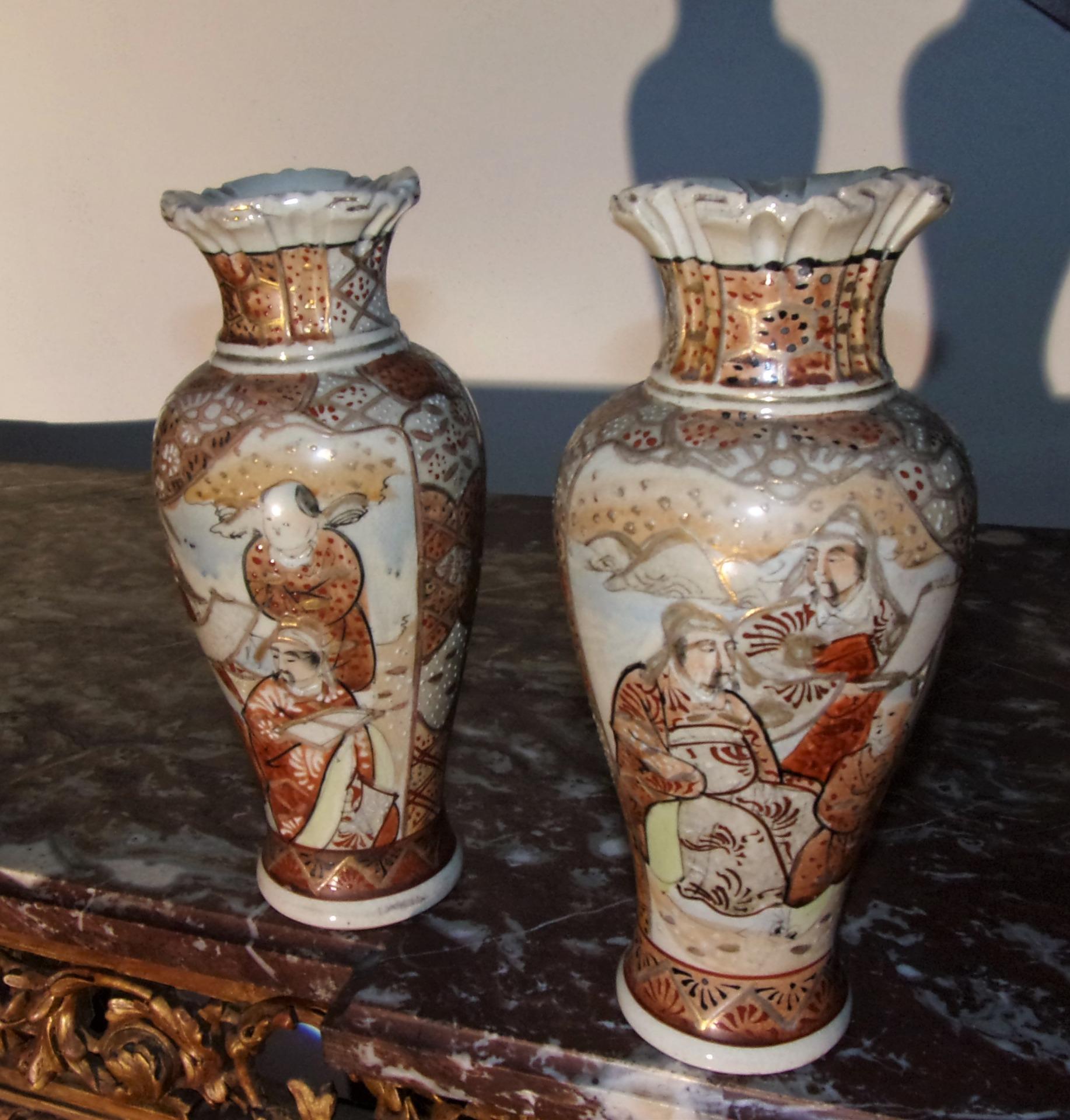 Coppia vasi giapponesi antiquariato su anticoantico for Vasi giapponesi