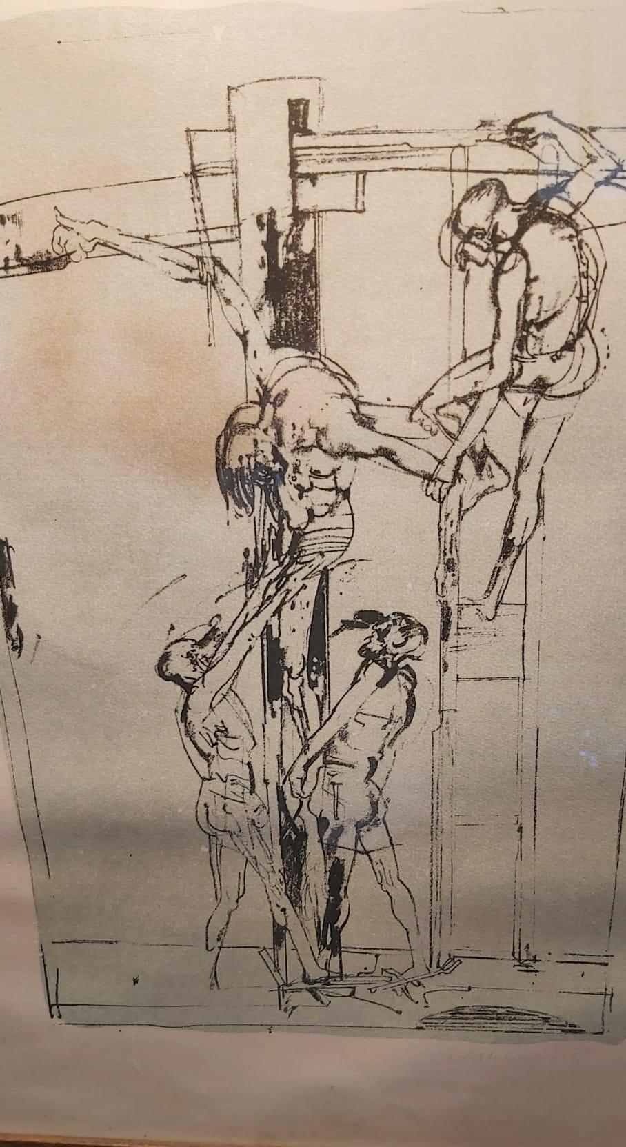 thumb2 Litografia deposizione Cristo