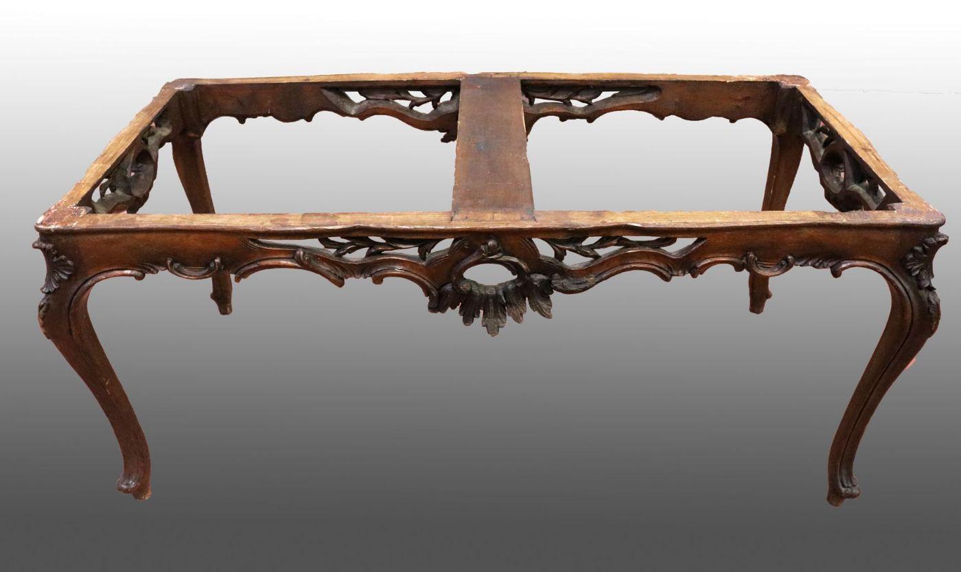 Antica base da tavolo in legno. Epoca primi 1900 ...