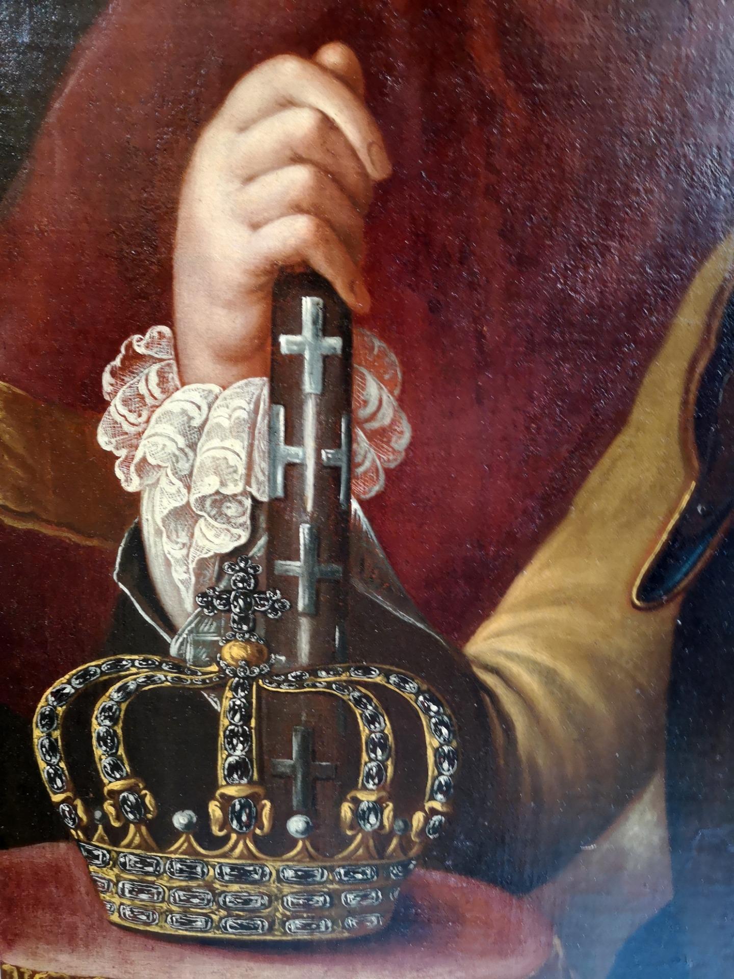 thumb5|Dipinto olio su tela , raffigurante Carlo Emanuele III di Savoia: epoca: metà 700