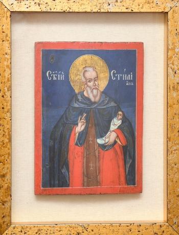 "thumb2|""San Stiliano di Paflagonia"" - Icona Greco-Ortodossa olio su legno, Greek Orthodox icon oil on wood"