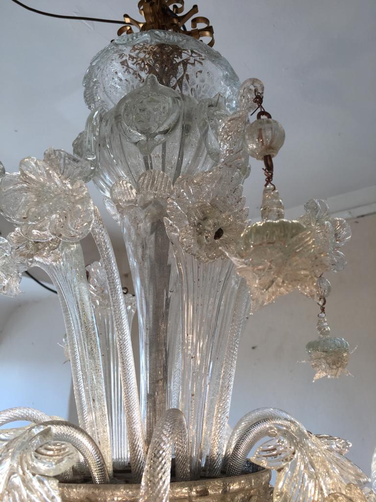 thumb2|Lampadario vetro di Murano 8 fiamme