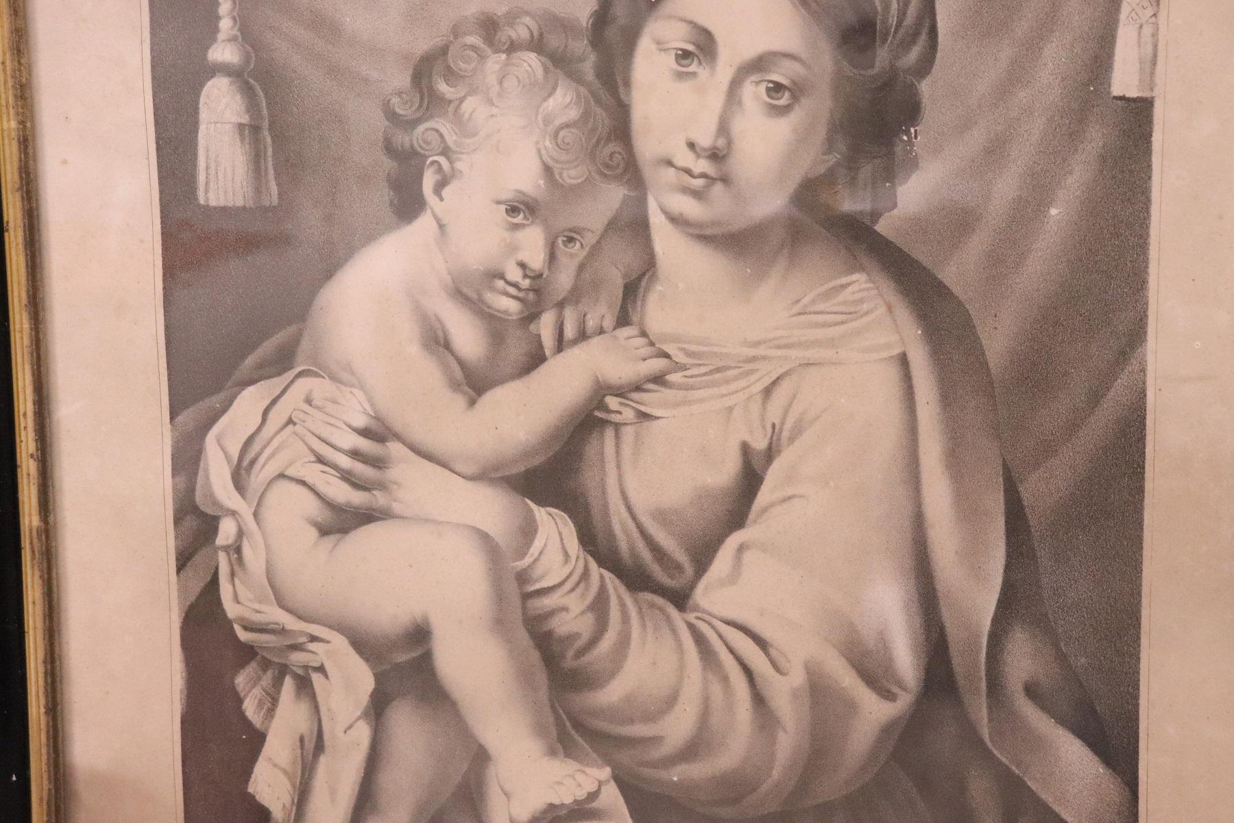 thumb3|Antica Litografia Madonna dell'Aiuto secolo XIX PREZZO TRATTABILE