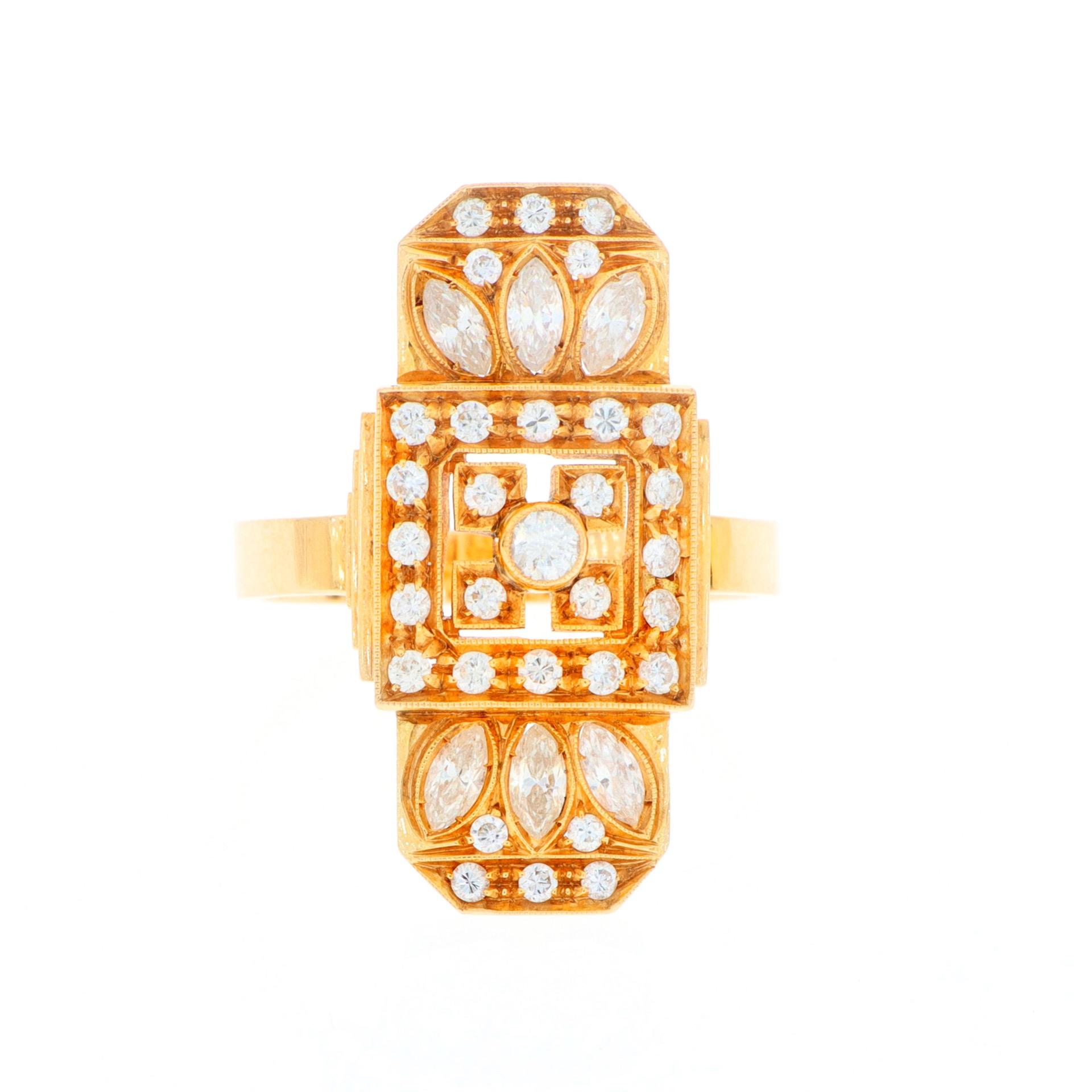thumb2|Anello in oro giallo con diamanti