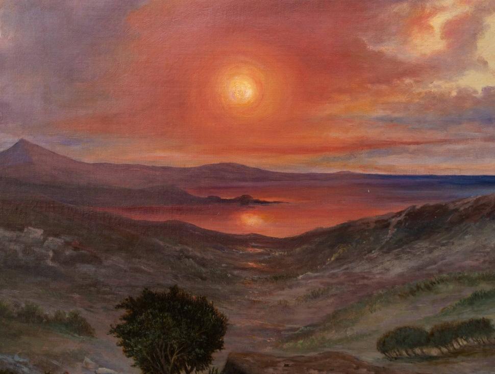 thumb3 Paesaggio al tramonto, XIX secolo