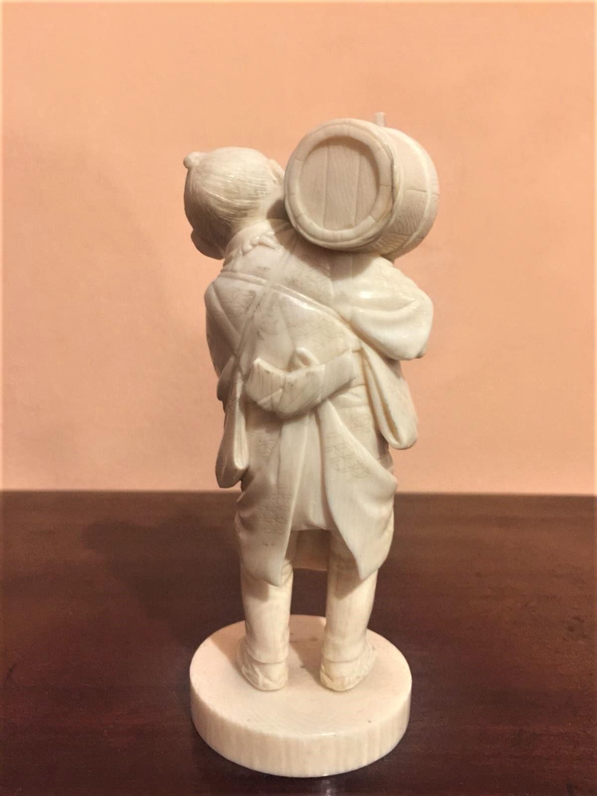 thumb3|Statuetta in avorio, contadino orientale, fine '800