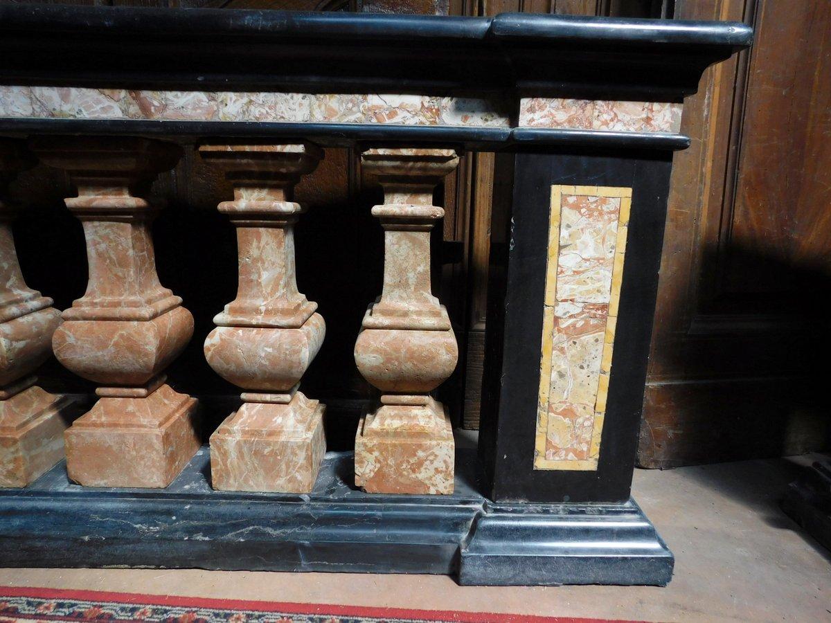 thumb3|dars400 - coppia di balaustre in marmo, cm l 158 x h 78 x p. 35