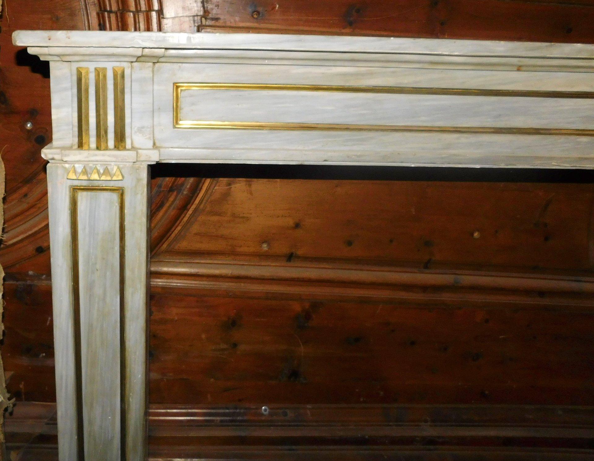 thumb5 chm245 camino in marmo grigio luigi xvi ep 700 bocca 145 x 94 cm