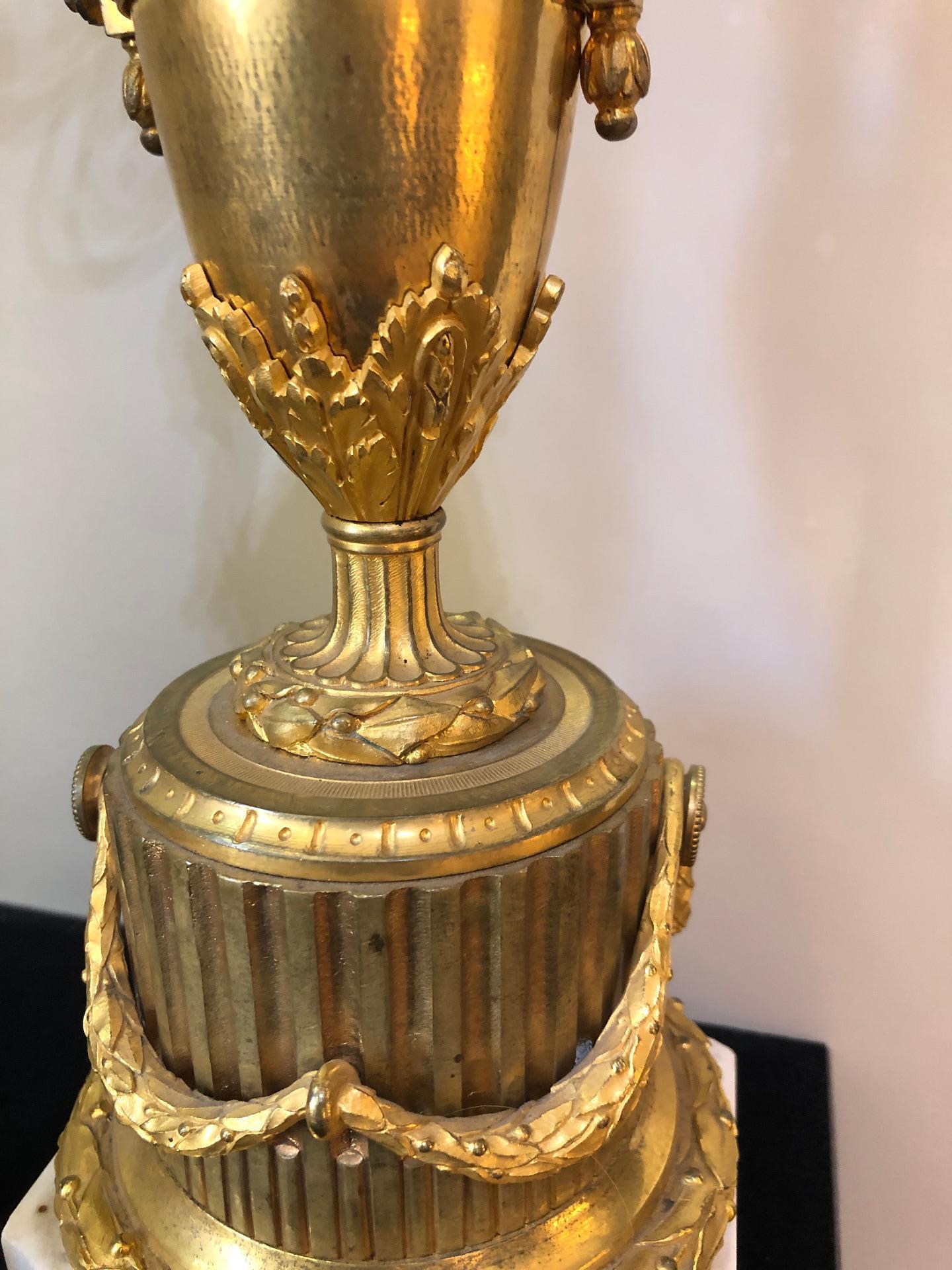 thumb10|Coppia di candelabri in bronzo dorato Francia XIX sec.