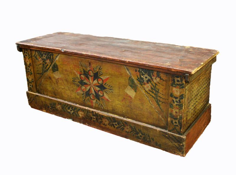 Antica cassapanca in legno epoca 1800 antiquariato su for Mobili antichi 1800