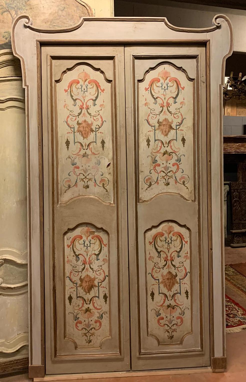 thumb5|pts742 - coppia di porte complete di telaio, ep. '700, mis. l 140/142 x h 253