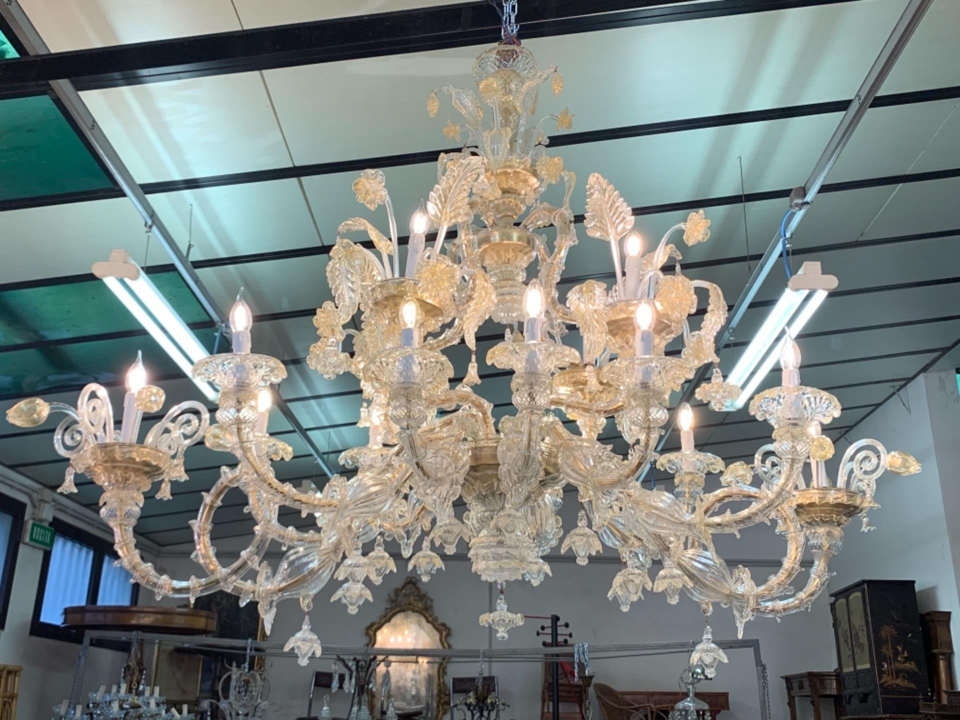 thumb5|Lampadario gondola veneziana vetro di Murano 16 fiamme