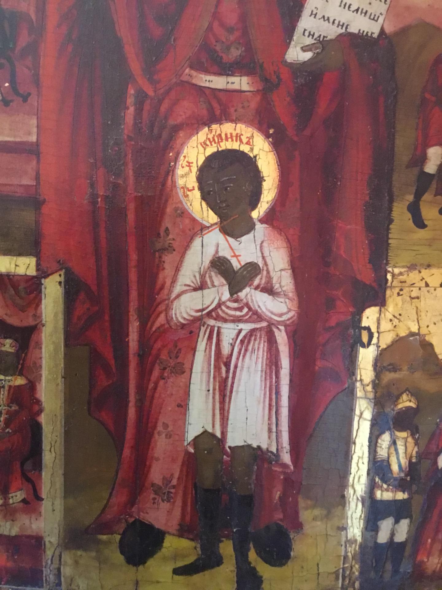 thumb5|Antica icona raffigurante vita di un santo