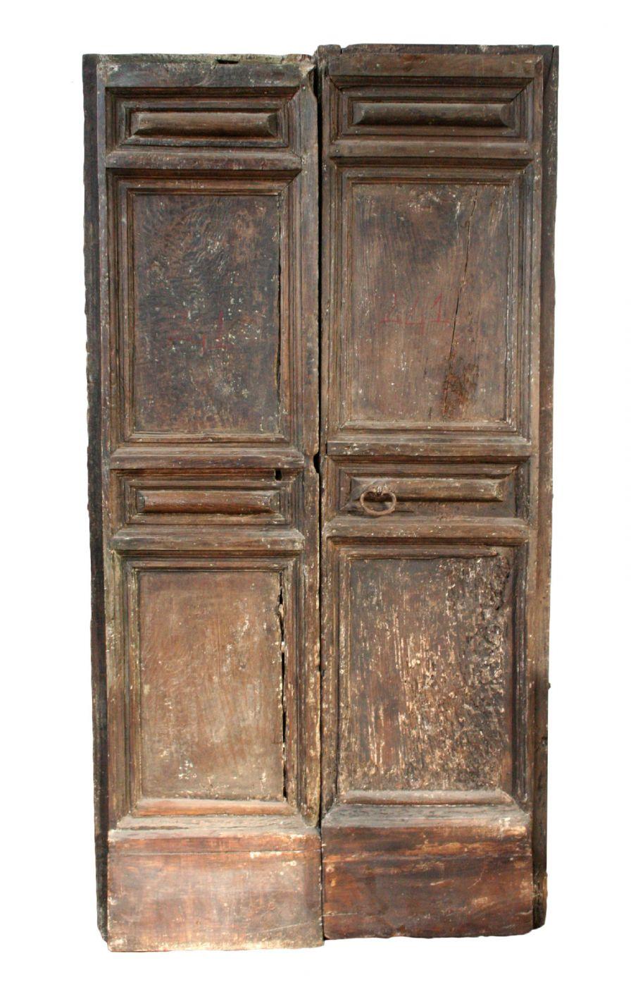 Foto Di Porte Antiche coppia di porte antiche. epoca 1600 antiquariato su