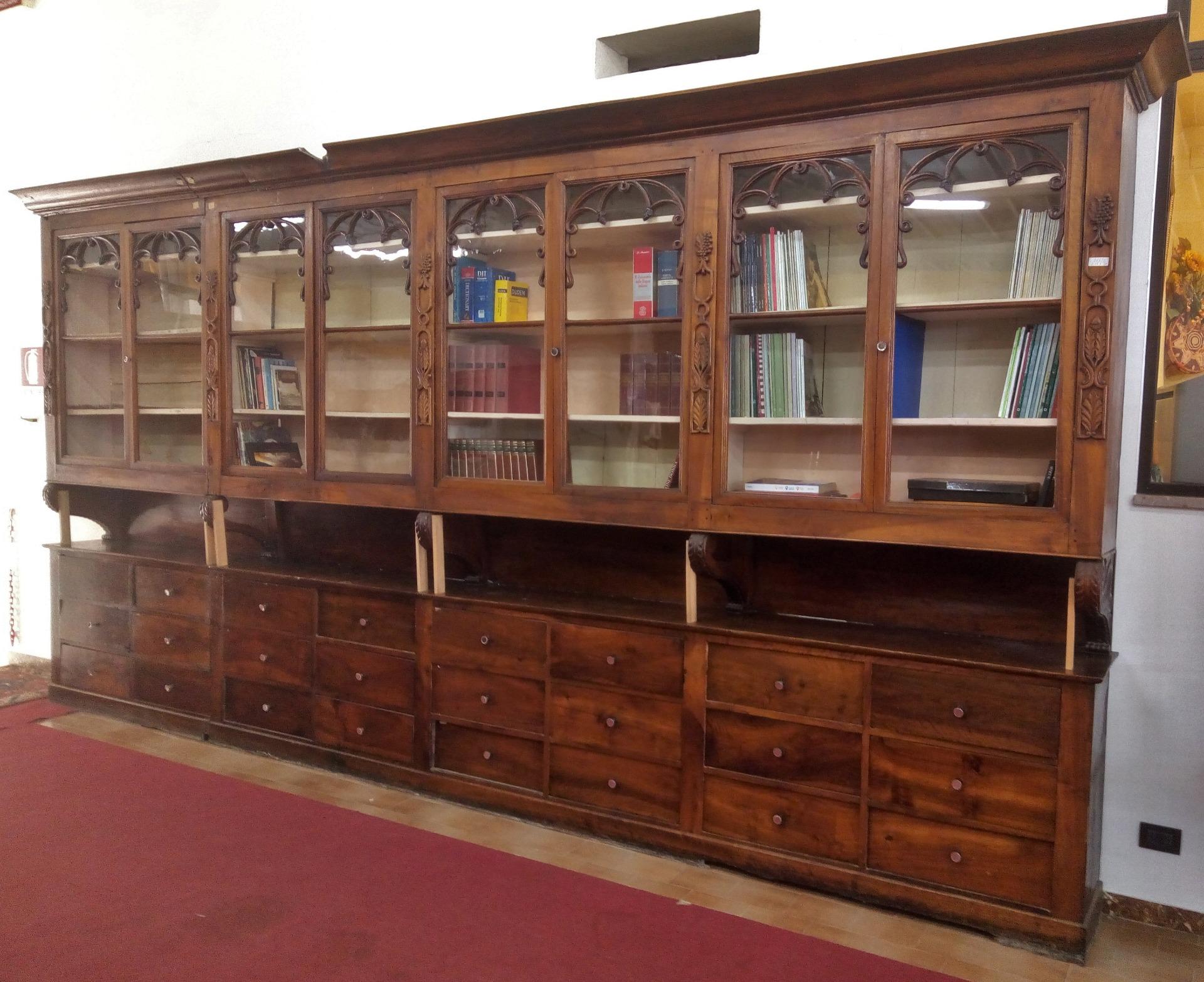 Coppia di mobili da farmacia con vetri e cassetti met 800 antiquariato su anticoantico - Mobili vecchi da ristrutturare ...