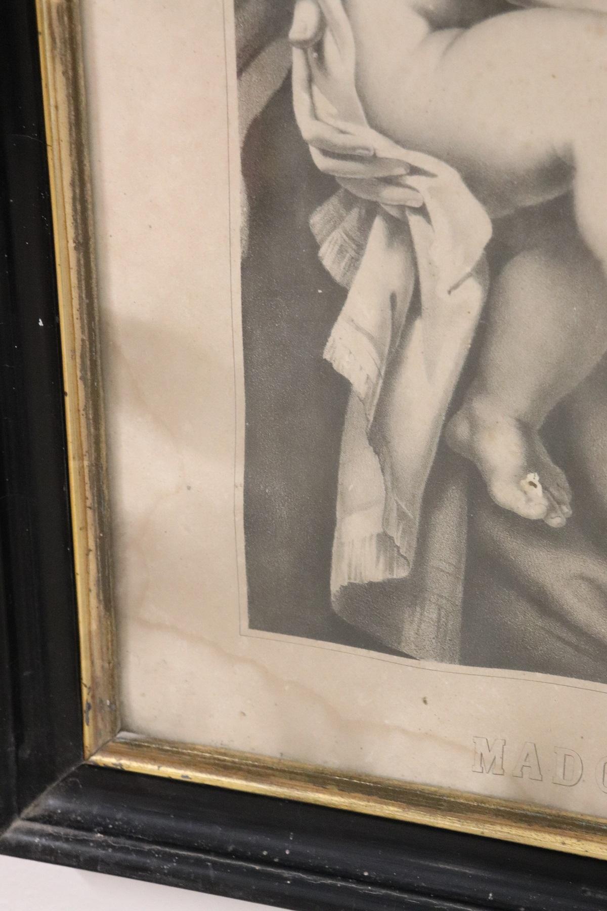 thumb6|Antica Litografia Madonna dell'Aiuto secolo XIX PREZZO TRATTABILE