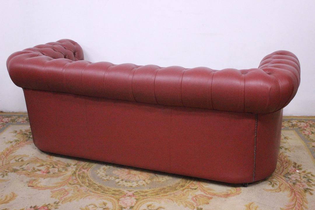 Chesterfield Sofa Chester Club 3 Seats In Original Dark Pink