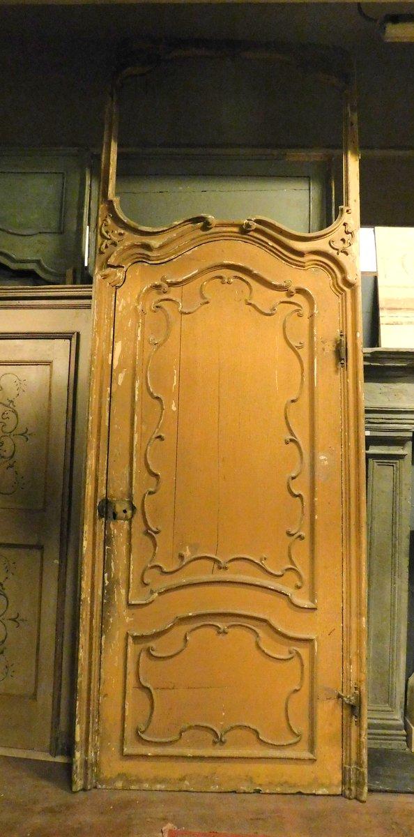 ptl519 - porta grande laccata con telaio, XVIII secolo, mis. cm l 130 x h 360