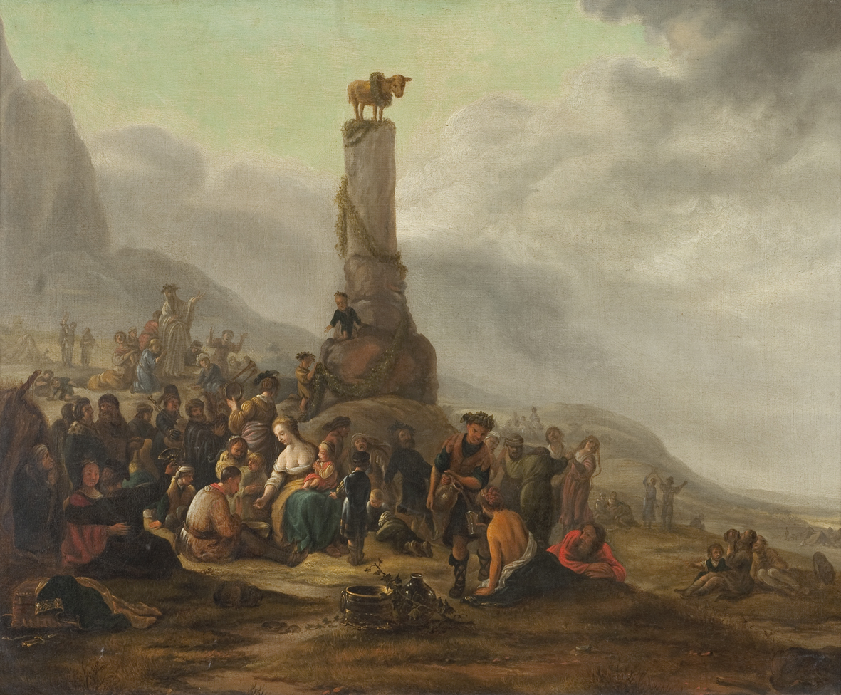 Mosè ed il Vitello d'Oro Theodor Helmbreker '600