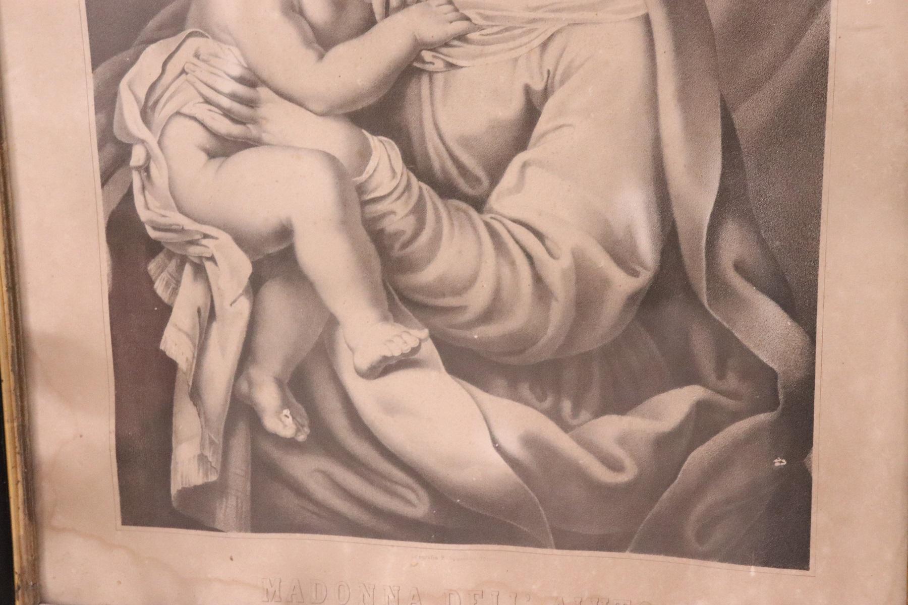 thumb4|Antica Litografia Madonna dell'Aiuto secolo XIX PREZZO TRATTABILE