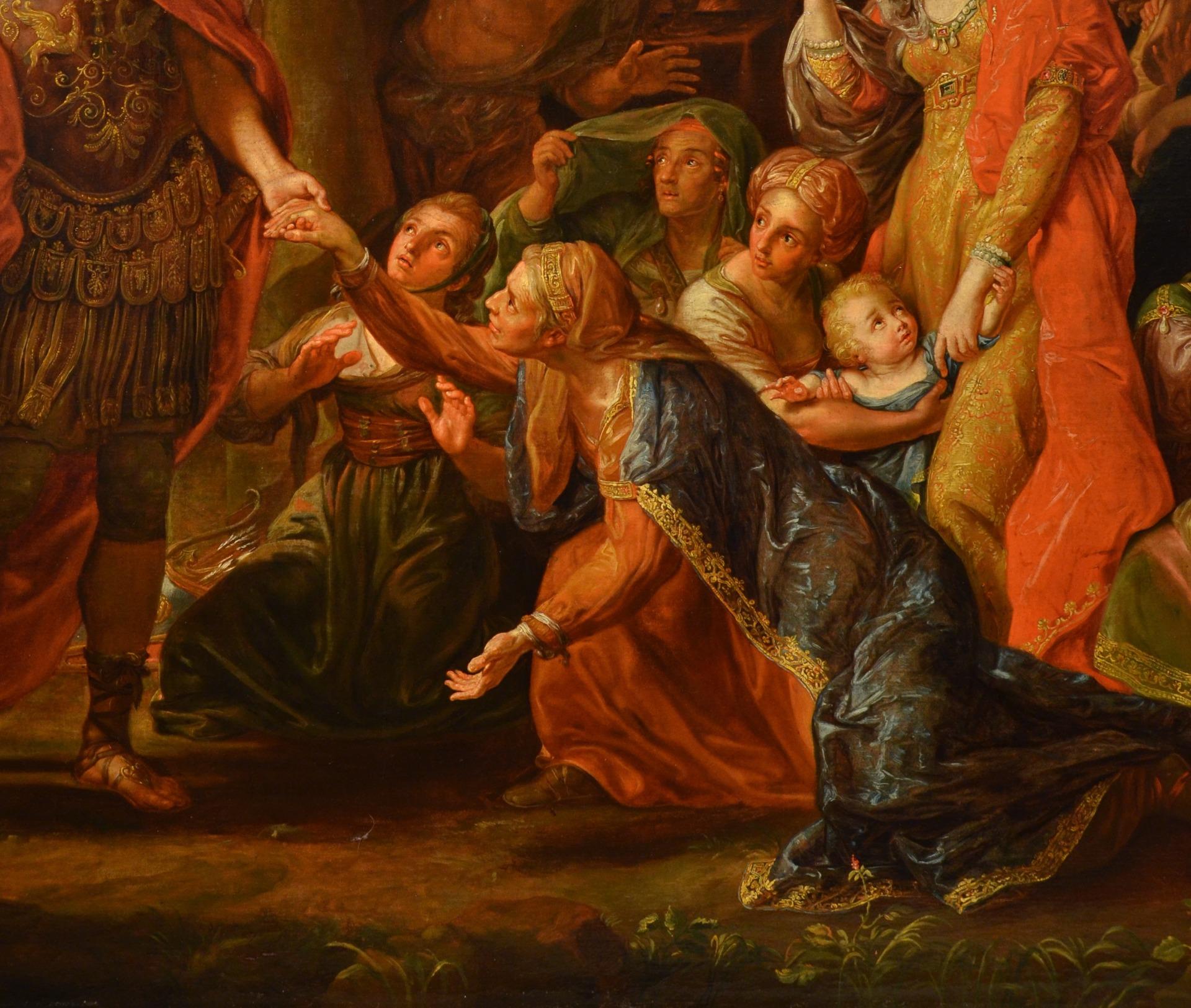 thumb7|Alessandro Magno visita la famiglia di Dario, Pompeo Girolamo Batoni (Lucca 1708 – Roma 1787) e bottega (VENDUTO)
