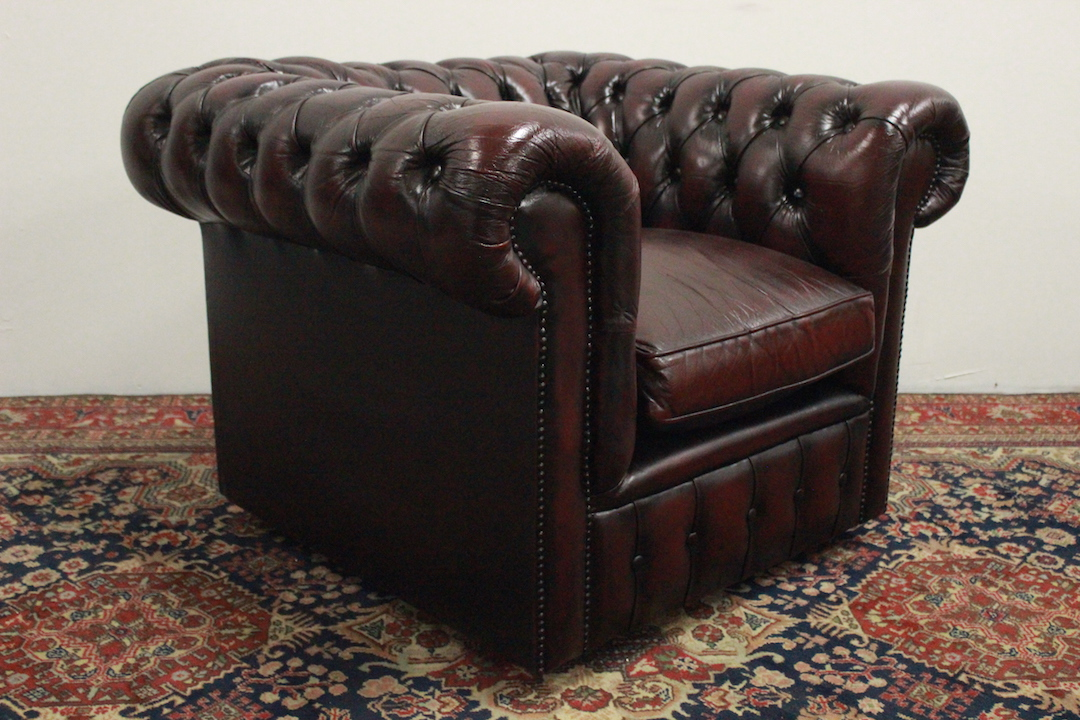 Poltrona Pelle Bordeaux.Beautiful Club Chesterfield Armchair Chester Leather