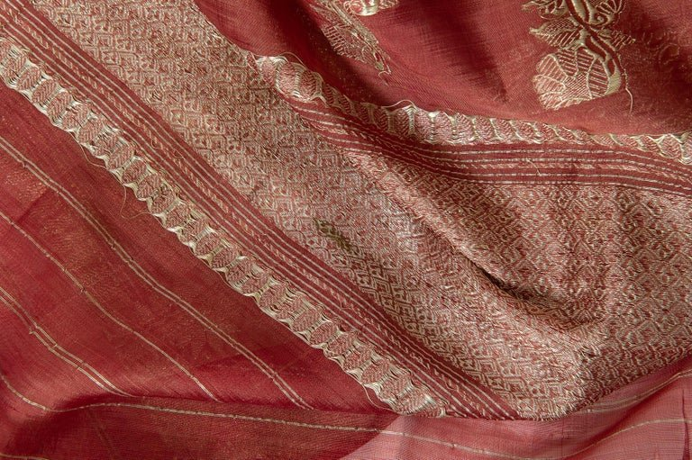 thumb3|Antico Sari indiano color malva