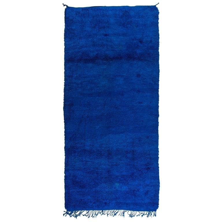 thumb5|Tappeto Marocco a fondo blu (n.1179)