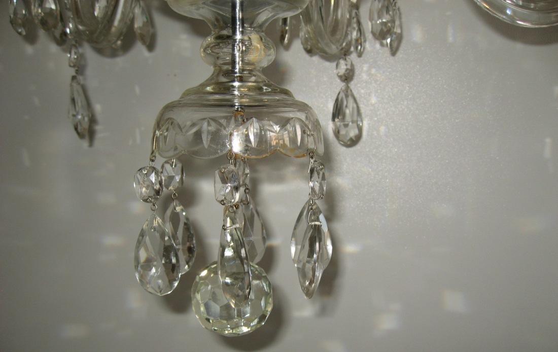 Lampade Cristallo Di Boemia : Lampadario in cristallo di boemia vintage antiquariato su