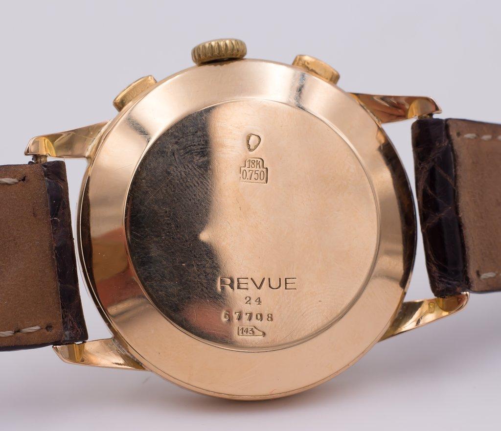 thumb4|Cronografo in oro Revue anni 50