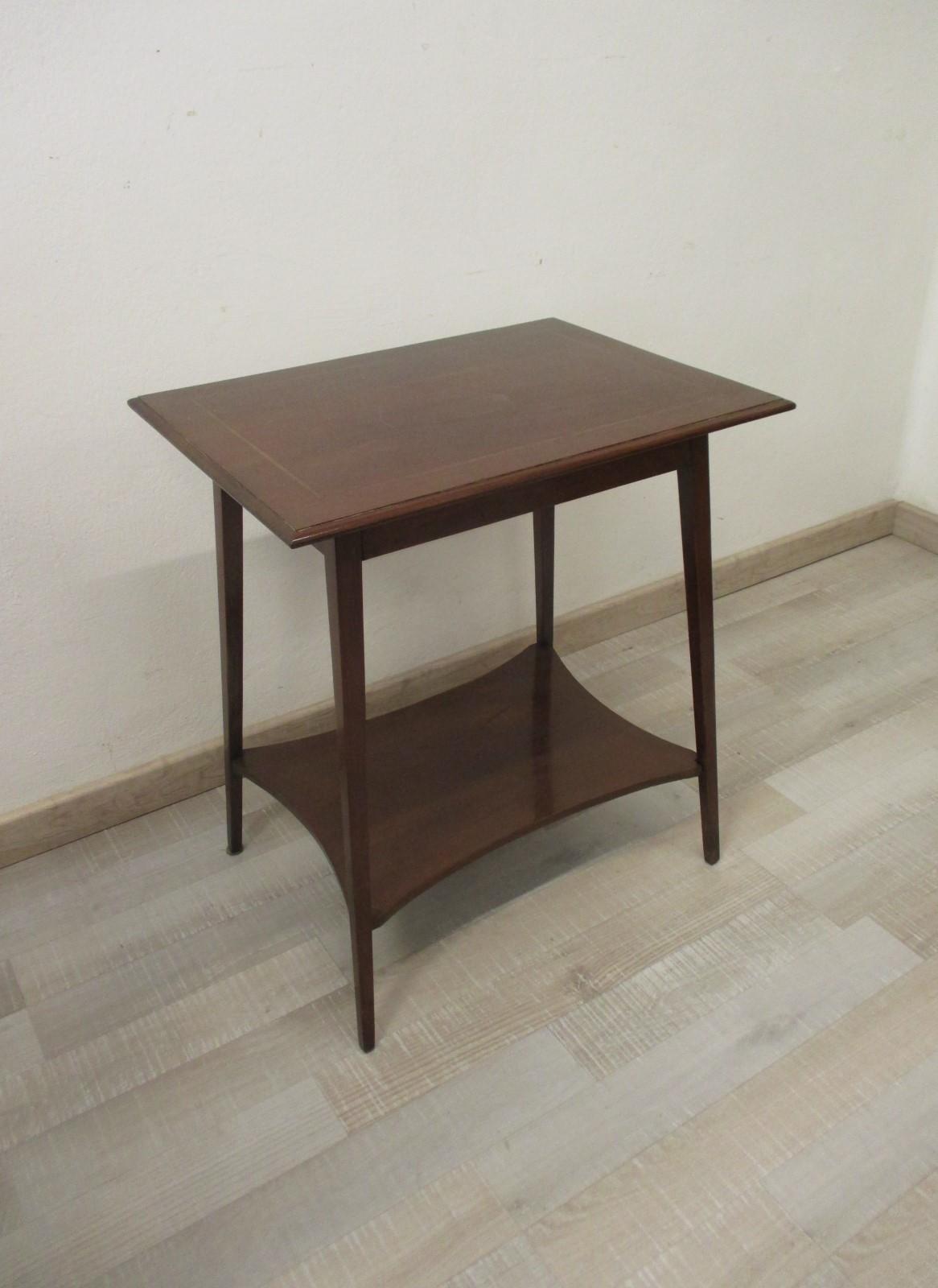 Tavolino inglese in mogano con ripiano - mobiletto - comodino - primi 900 |  Antiquariato su Anticoantico